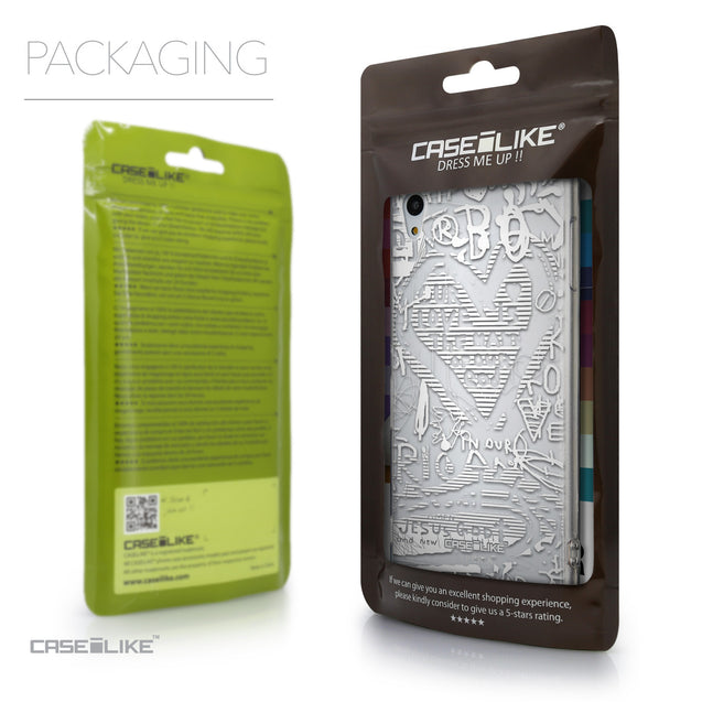 Packaging - CASEiLIKE Sony Xperia Z3 Plus back cover Graffiti 2730