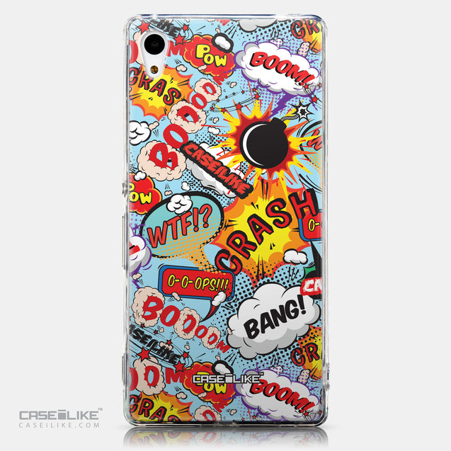 CASEiLIKE Sony Xperia Z3 Plus back cover Comic Captions Blue 2913