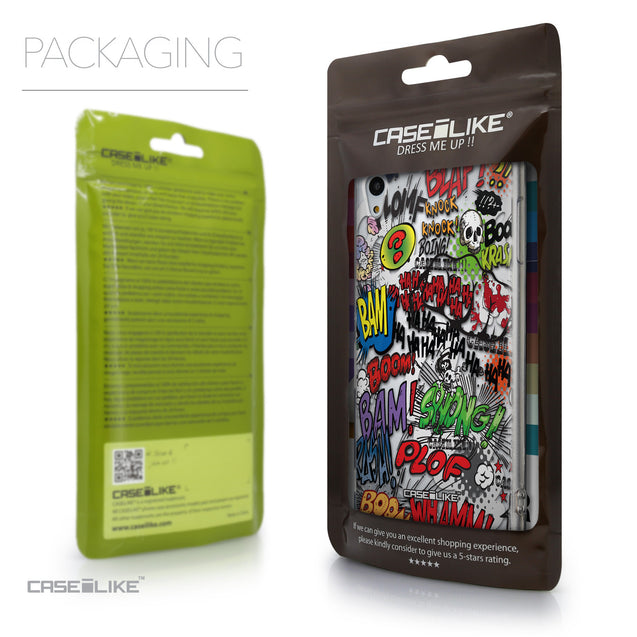 Packaging - CASEiLIKE Sony Xperia Z3 Plus back cover Comic Captions 2914