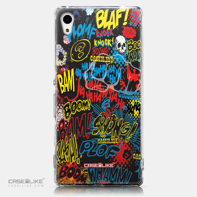CASEiLIKE Sony Xperia Z3 Plus back cover Comic Captions Black 2915