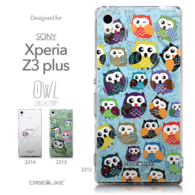 Collection - CASEiLIKE Sony Xperia Z3 Plus back cover Owl Graphic Design 3312