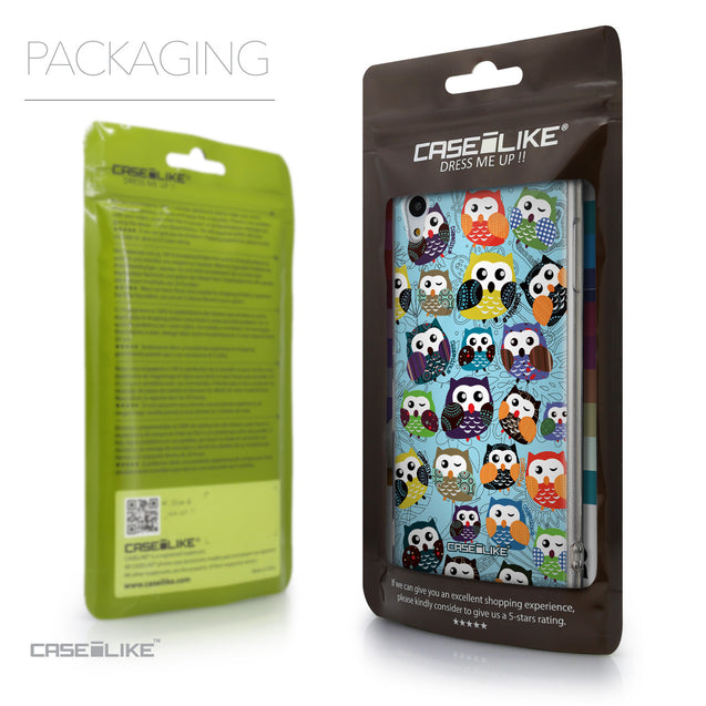 Packaging - CASEiLIKE Sony Xperia Z3 Plus back cover Owl Graphic Design 3312