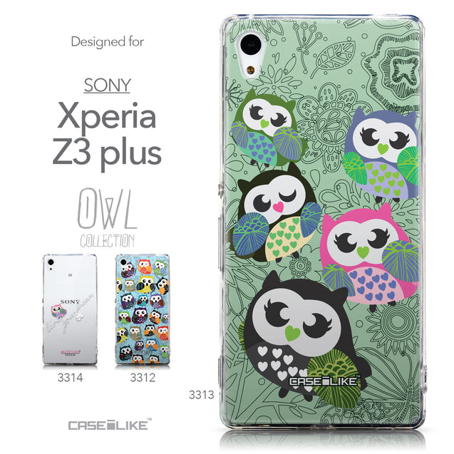 Collection - CASEiLIKE Sony Xperia Z3 Plus back cover Owl Graphic Design 3313