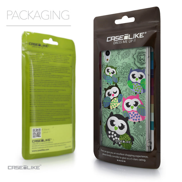 Packaging - CASEiLIKE Sony Xperia Z3 Plus back cover Owl Graphic Design 3313