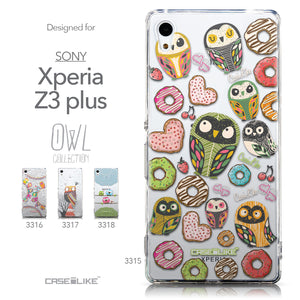 Collection - CASEiLIKE Sony Xperia Z3 Plus back cover Owl Graphic Design 3315
