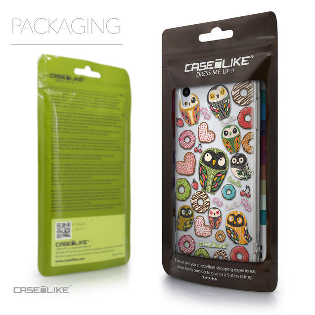 Packaging - CASEiLIKE Sony Xperia Z3 Plus back cover Owl Graphic Design 3315