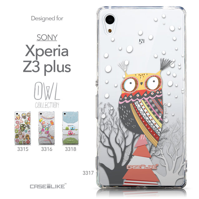 Collection - CASEiLIKE Sony Xperia Z3 Plus back cover Owl Graphic Design 3317
