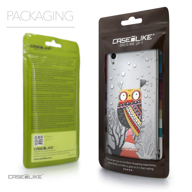 Packaging - CASEiLIKE Sony Xperia Z3 Plus back cover Owl Graphic Design 3317