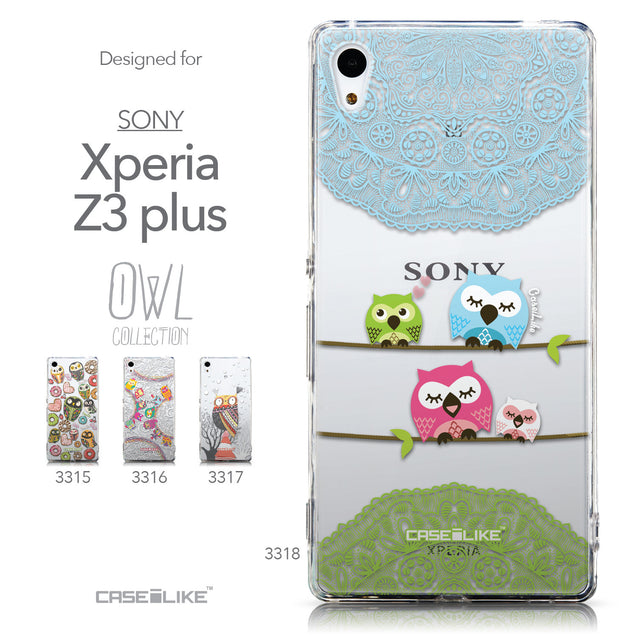 Collection - CASEiLIKE Sony Xperia Z3 Plus back cover Owl Graphic Design 3318