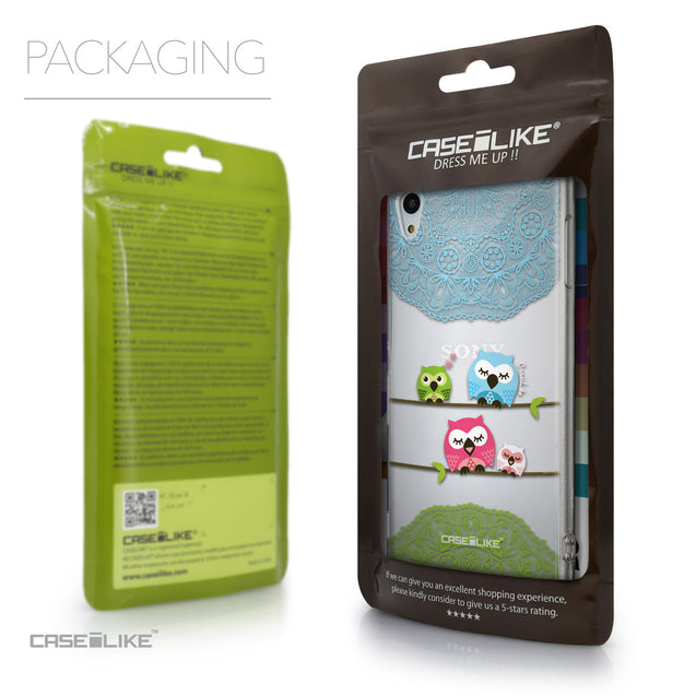 Packaging - CASEiLIKE Sony Xperia Z3 Plus back cover Owl Graphic Design 3318