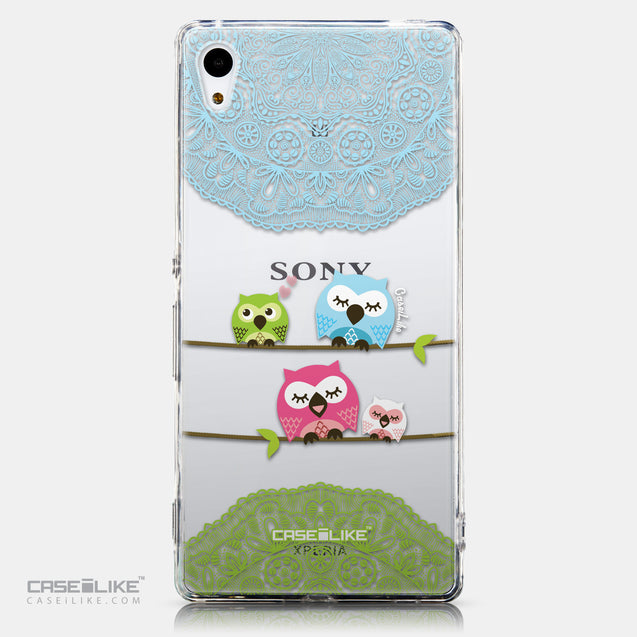 CASEiLIKE Sony Xperia Z3 Plus back cover Owl Graphic Design 3318