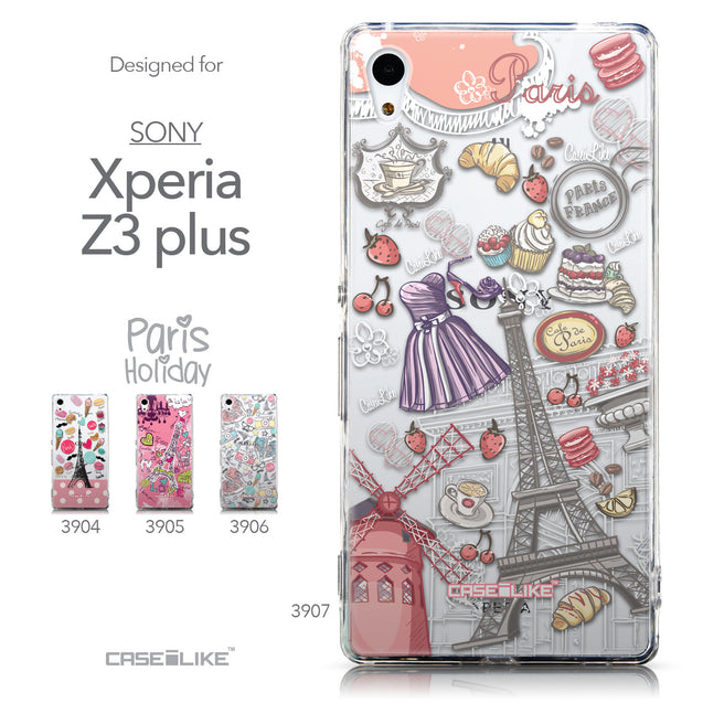 Collection - CASEiLIKE Sony Xperia Z3 Plus back cover Paris Holiday 3907