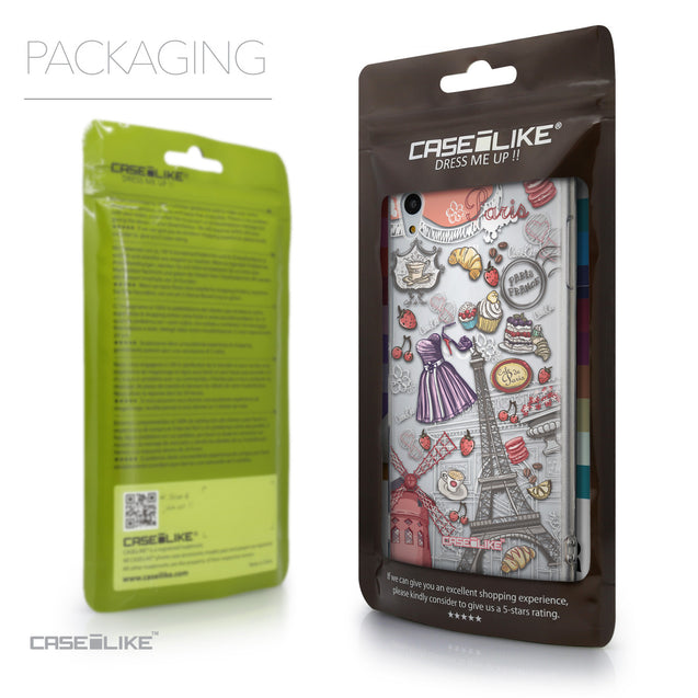 Packaging - CASEiLIKE Sony Xperia Z3 Plus back cover Paris Holiday 3907