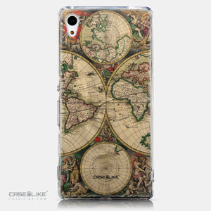 CASEiLIKE Sony Xperia Z3 Plus back cover World Map Vintage 4607