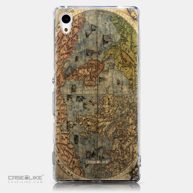 CASEiLIKE Sony Xperia Z3 Plus back cover World Map Vintage 4608