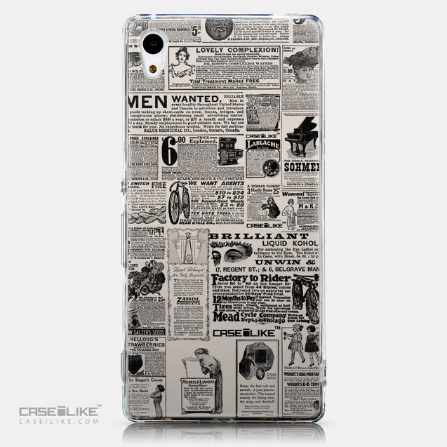 CASEiLIKE Sony Xperia Z3 Plus back cover Vintage Newspaper Advertising 4818