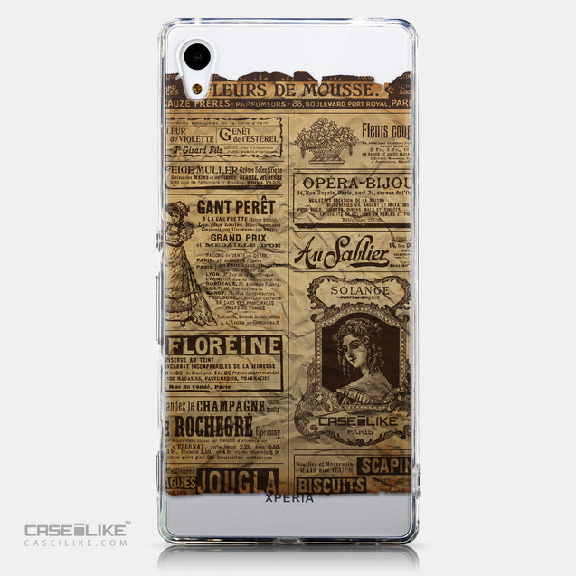 CASEiLIKE Sony Xperia Z3 Plus back cover Vintage Newspaper Advertising 4819