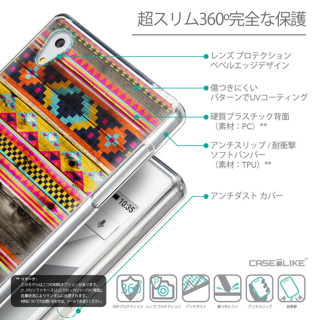 Details in Japanese - CASEiLIKE Sony Xperia Z5 back cover Indian Tribal Theme Pattern 2048