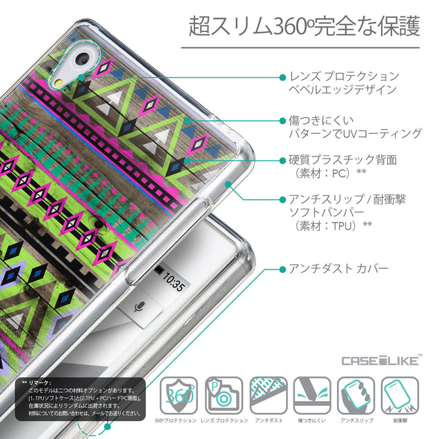 Details in Japanese - CASEiLIKE Sony Xperia Z5 back cover Indian Tribal Theme Pattern 2049