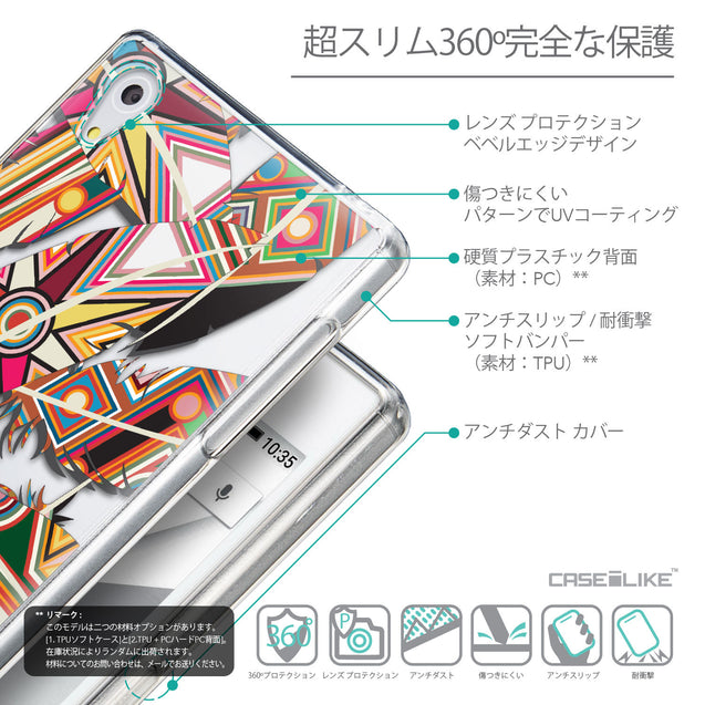 Details in Japanese - CASEiLIKE Sony Xperia Z5 back cover Indian Tribal Theme Pattern 2054