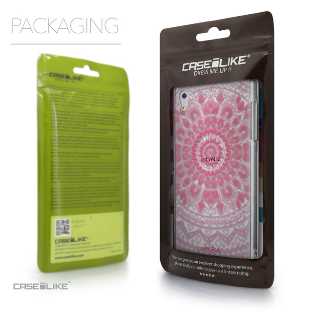 Packaging - CASEiLIKE Sony Xperia Z5 back cover Indian Line Art 2062