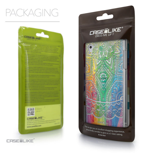 Packaging - CASEiLIKE Sony Xperia Z5 back cover Indian Line Art 2064