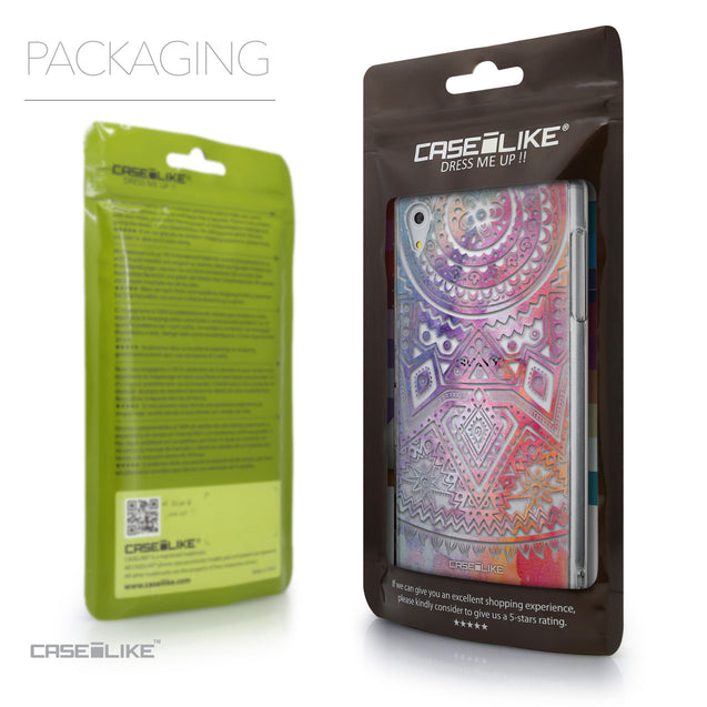 Packaging - CASEiLIKE Sony Xperia Z5 back cover Indian Line Art 2065