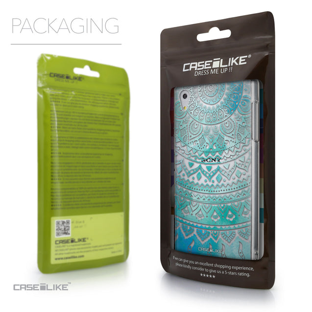 Packaging - CASEiLIKE Sony Xperia Z5 back cover Indian Line Art 2066