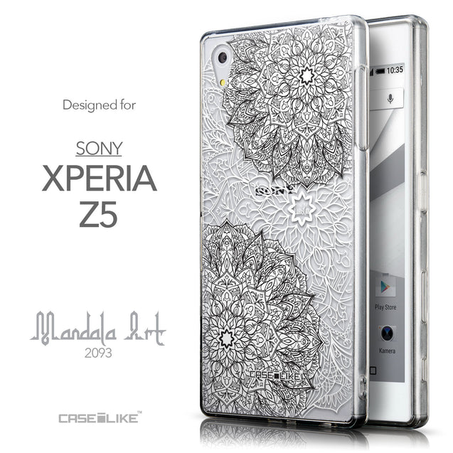 Front & Side View - CASEiLIKE Sony Xperia Z5 back cover Mandala Art 2093