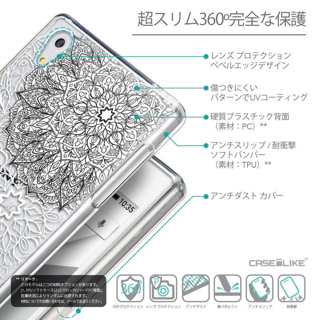 Details in Japanese - CASEiLIKE Sony Xperia Z5 back cover Mandala Art 2093