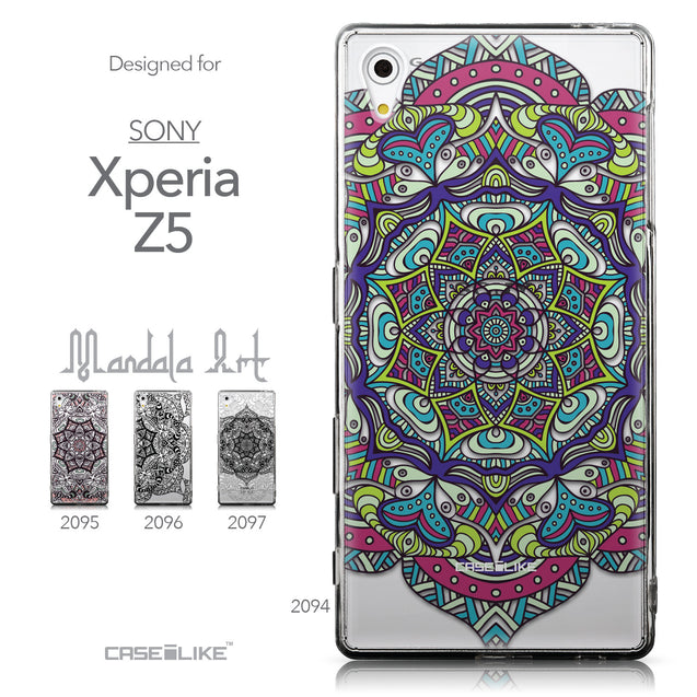 Collection - CASEiLIKE Sony Xperia Z5 back cover Mandala Art 2094