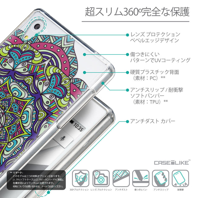 Details in Japanese - CASEiLIKE Sony Xperia Z5 back cover Mandala Art 2094