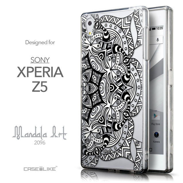 Front & Side View - CASEiLIKE Sony Xperia Z5 back cover Mandala Art 2096
