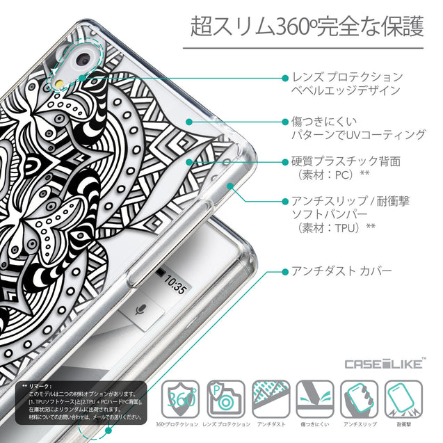 Details in Japanese - CASEiLIKE Sony Xperia Z5 back cover Mandala Art 2096