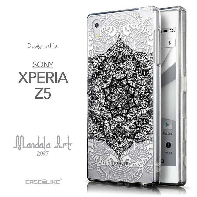 Front & Side View - CASEiLIKE Sony Xperia Z5 back cover Mandala Art 2097