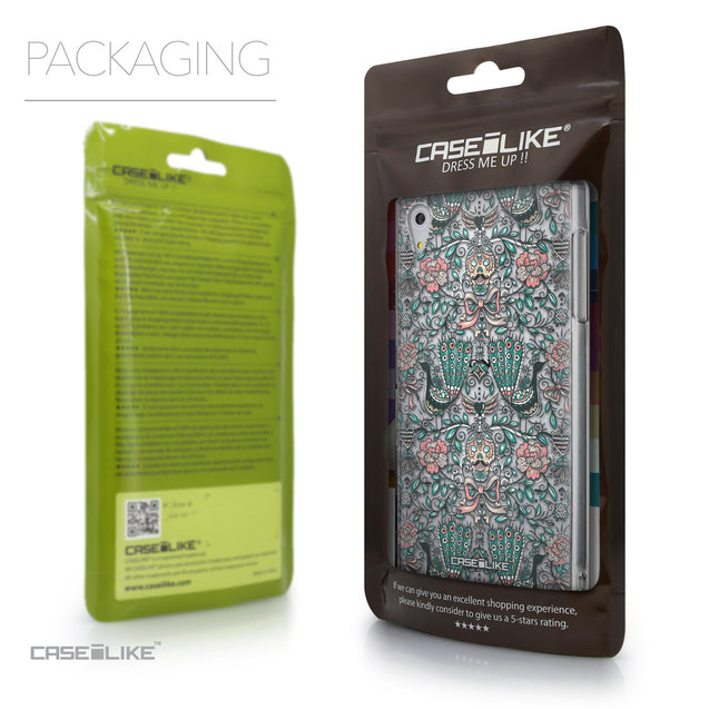 Packaging - CASEiLIKE Sony Xperia Z5 back cover Roses Ornamental Skulls Peacocks 2226