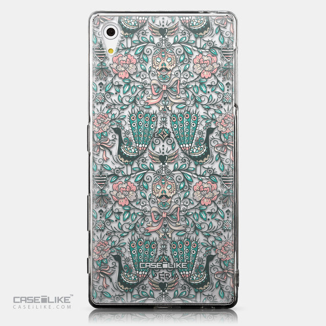 CASEiLIKE Sony Xperia Z5 back cover Roses Ornamental Skulls Peacocks 2226