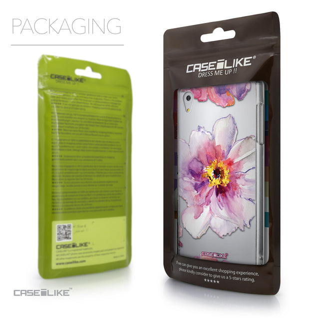 Packaging - CASEiLIKE Sony Xperia Z5 back cover Watercolor Floral 2231