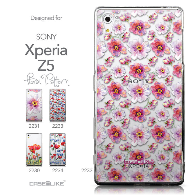 Collection - CASEiLIKE Sony Xperia Z5 back cover Watercolor Floral 2232