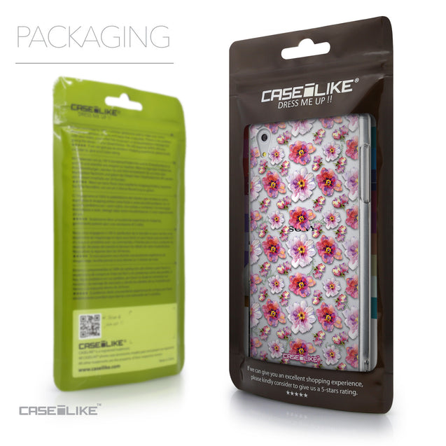 Packaging - CASEiLIKE Sony Xperia Z5 back cover Watercolor Floral 2232