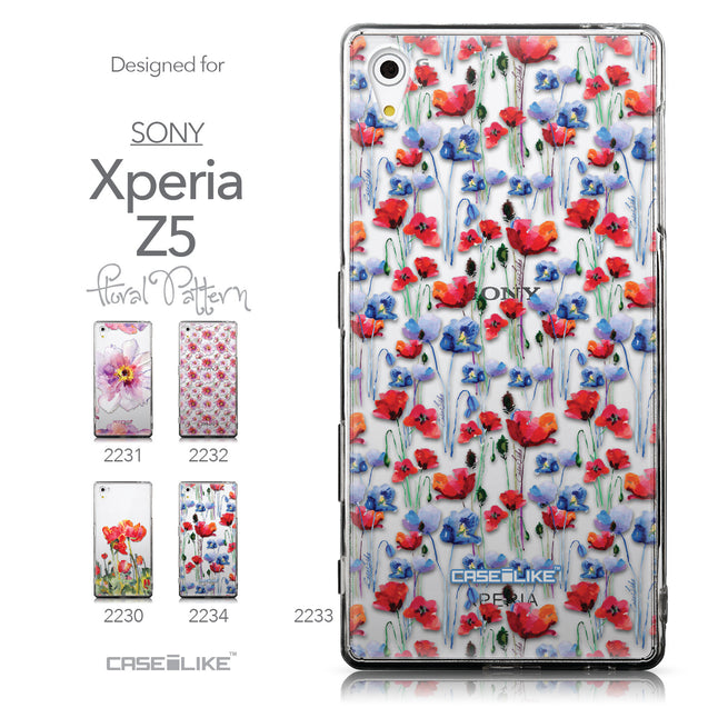 Collection - CASEiLIKE Sony Xperia Z5 back cover Watercolor Floral 2233