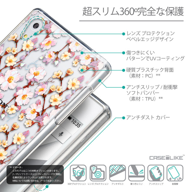Details in Japanese - CASEiLIKE Sony Xperia Z5 back cover Watercolor Floral 2236