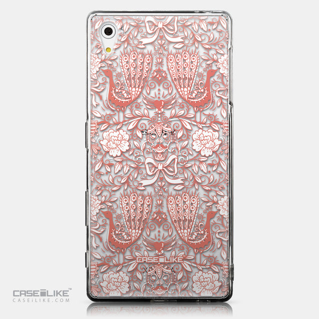 CASEiLIKE Sony Xperia Z5 back cover Roses Ornamental Skulls Peacocks 2237