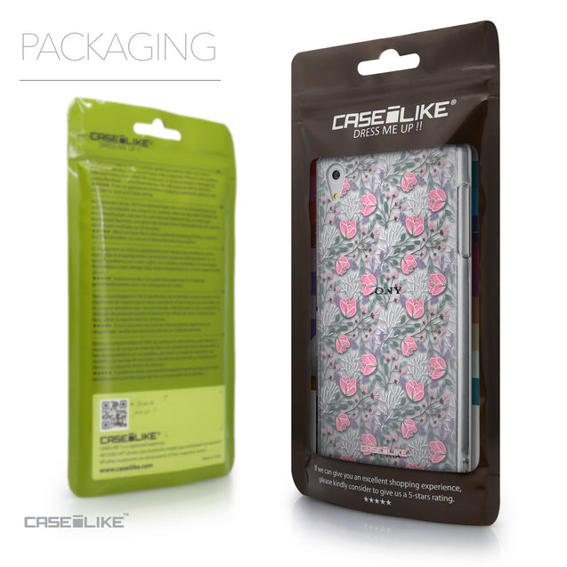 Packaging - CASEiLIKE Sony Xperia Z5 back cover Flowers Herbs 2246