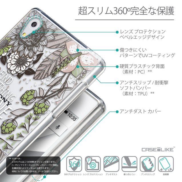 Details in Japanese - CASEiLIKE Sony Xperia Z5 back cover Blooming Flowers 2250
