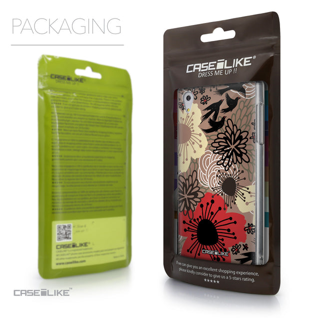 Packaging - CASEiLIKE Sony Xperia Z5 back cover Japanese Floral 2254