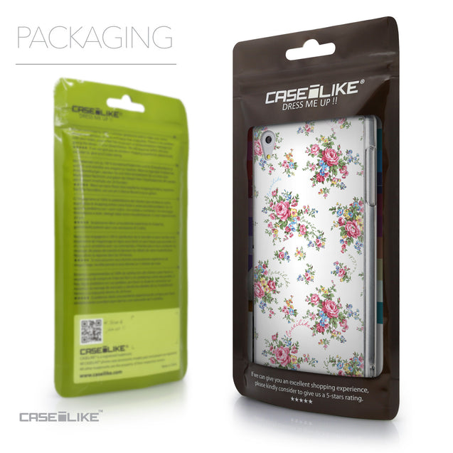 Packaging - CASEiLIKE Sony Xperia Z5 back cover Floral Rose Classic 2260