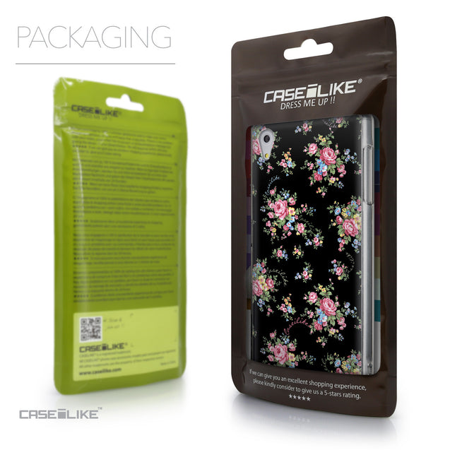 Packaging - CASEiLIKE Sony Xperia Z5 back cover Floral Rose Classic 2261