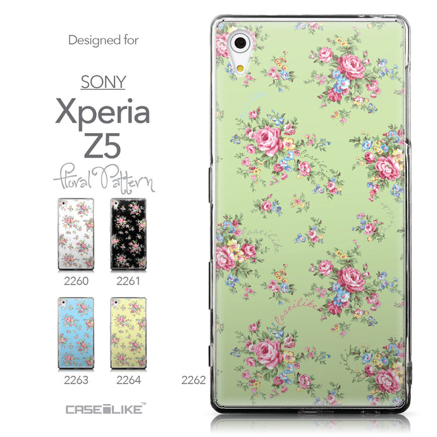 Collection - CASEiLIKE Sony Xperia Z5 back cover Floral Rose Classic 2262
