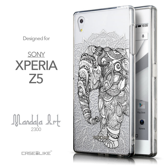 Front & Side View - CASEiLIKE Sony Xperia Z5 back cover Mandala Art 2300